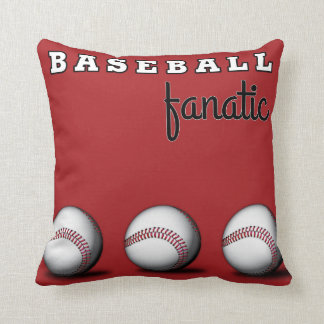 Baseball Fanatic Throw Pillows