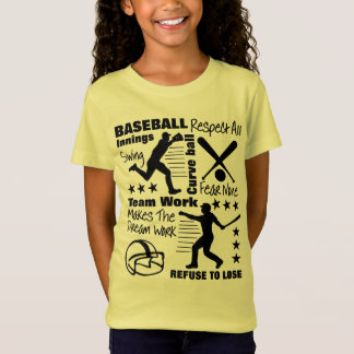 Baseball Fans Quotes And Graphics Sporty Design T-Shirt
