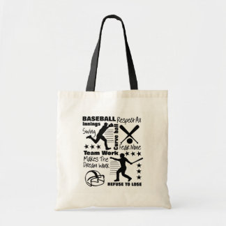 Baseball Fans Quotes And Graphics Sporty Design Tote Bag