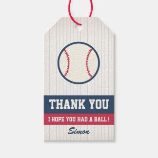 Baseball Favour Tag