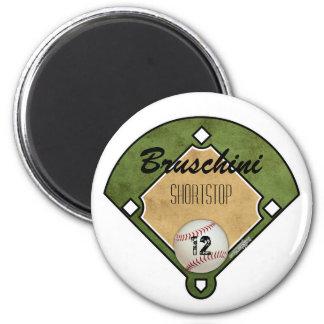 Baseball Field 6 Cm Round Magnet