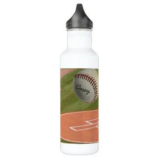 Baseball Field Diamond Baseball Water Bottle