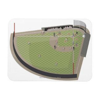 Baseball field vinyl magnets