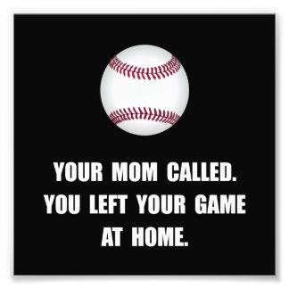 Baseball Game At Home Photographic Print