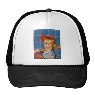 Baseball game, boy,dog trucker hat