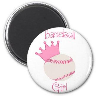 Baseball Girl Refrigerator Magnet