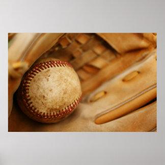 Baseball Glove and Ball Poster