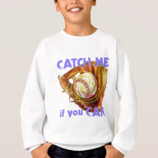 Baseball Glove and Ball Sweatshirt