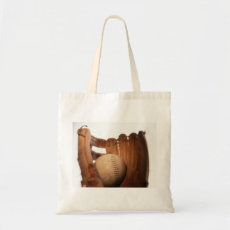 Baseball Glove & Ball Tote Bag