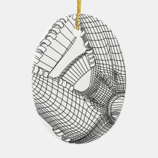 baseball glove ceramic oval decoration