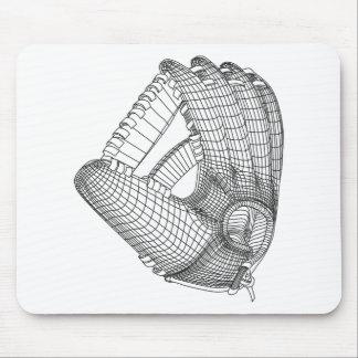 baseball glove mouse pad