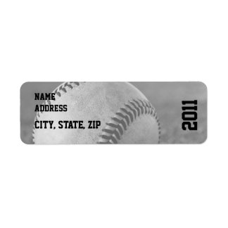Baseball Graduation Return Address Return Address Label