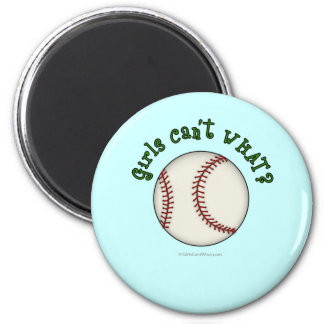Baseball-Green Fridge Magnets