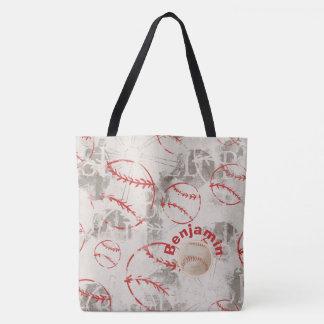 Baseball Grunge Print Bag