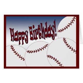 Baseball - Happy Birthday from Biggest Fan! Greeting Card