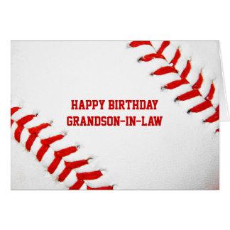 Baseball Happy Birthday Grandson-In-Law Card
