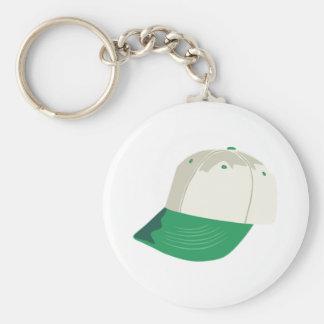 Baseball Hat Basic Round Button Key Ring