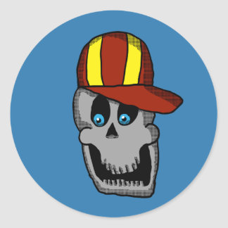 Baseball Hat Skull Sticker