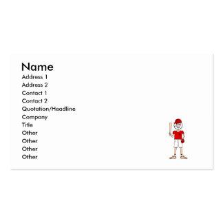 baseball head guy pack of standard business cards