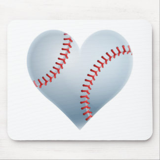 Baseball Heart Mouse Pad