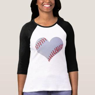 Baseball heart Raglan T-shirt