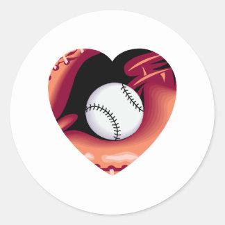 Baseball Heart Stickers