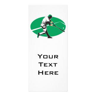 baseball hitter vector illustration rack card