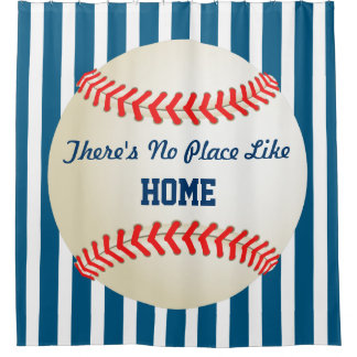 Baseball Home Run - Custom No Place Like Home Shower Curtain