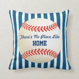 Baseball Home Run No Place Like Home Quote Cushion
