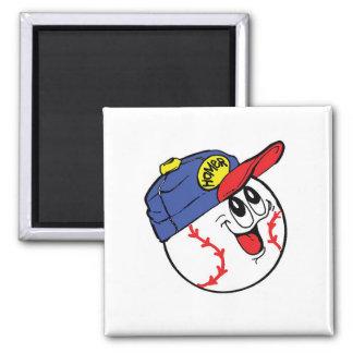 Baseball - Homer Square Magnet