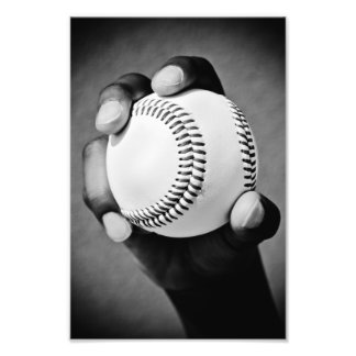 baseball in hand photo print