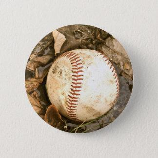 Baseball in the Mud 6 Cm Round Badge
