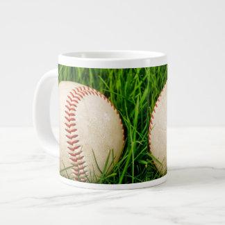 Baseball in the Tall Summer Grass Jumbo Mug
