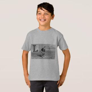 Baseball Initial L Sports Rhyme Vintage Left Field T-Shirt