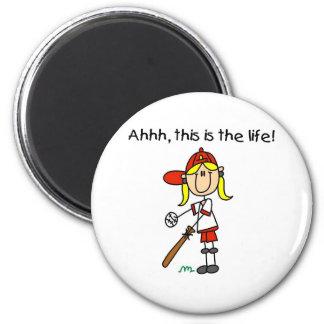 Baseball is Life 6 Cm Round Magnet
