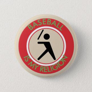 BASEBALL ISMY RELIGION 6 CM ROUND BADGE