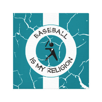 BASEBALL IS MY RELIGION CANVAS PRINT