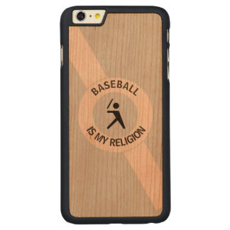 BASEBALL IS MY RELIGION CARVED CHERRY iPhone 6 PLUS CASE