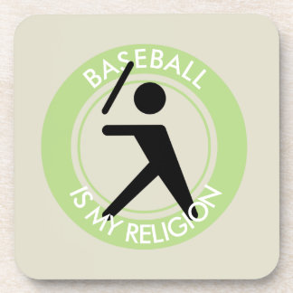 BASEBALL IS MY RELIGION COASTER