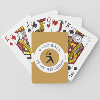 BASEBALL IS MY RELIGION PLAYING CARDS