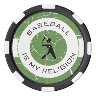 BASEBALL ISMY RELIGION POKER CHIPS