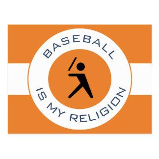 BASEBALL ISMY RELIGION POSTCARD