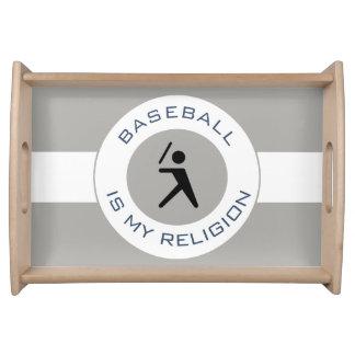 BASEBALL ISMY RELIGION SERVING TRAY