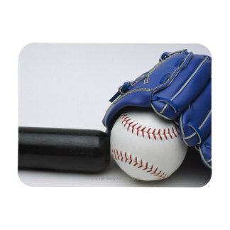 Baseball items rectangular photo magnet