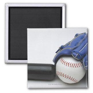 Baseball items square magnet
