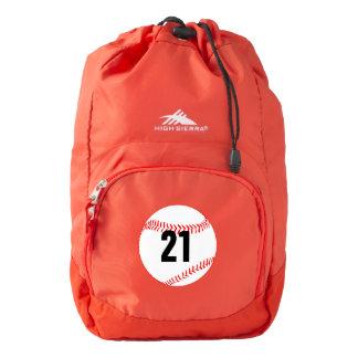 Baseball Jersey Number Custom High Sierra Backpack