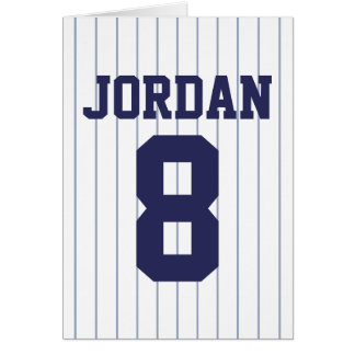 Baseball Jersey - Sports Theme Birthday Party Card
