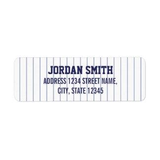 Baseball Jersey - Sports Theme Birthday Party Return Address Label