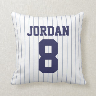 Baseball Jersey with Number Cushion