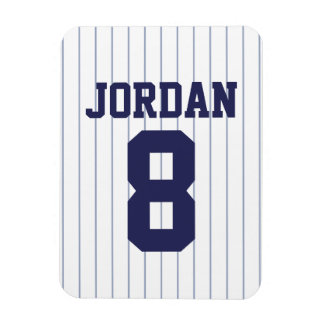 Baseball Jersey with Number Magnet